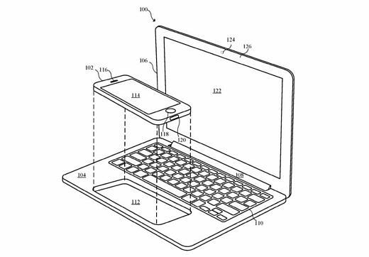 Apple запатентовала смартфон, который подключается к ноутбуку