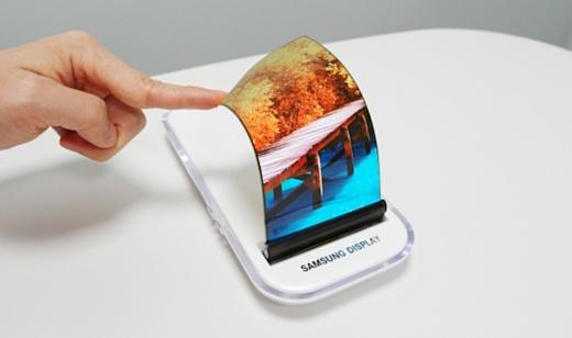 Samsung выпустит гибкий смартфон лишь в 2019