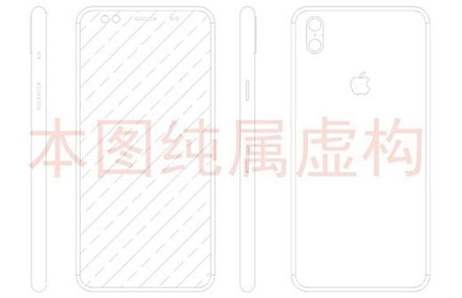 В сеть попал чертеж iPhone 8 с двумя камерами на задней панели