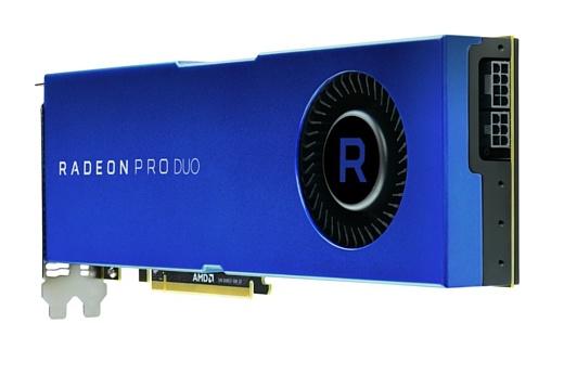 AMD выпустила сдвоенную профессиональную видеокарту Radeon Pro Duo
