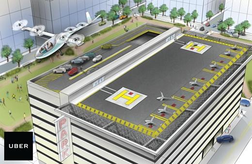 Uber начнет тесты летающих авто в 2020