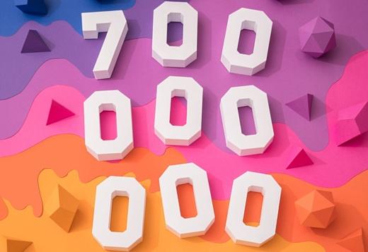 Количество пользователей Instagram выросло до 700 млн