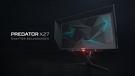 Acer представила новый игровой монитор Predator X27