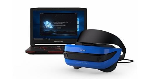 Microsoft, Acer и HP показали свои VR-шлемы и контроллеры