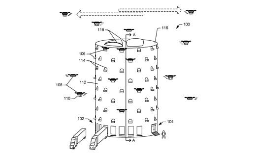 Amazon запатентовала идею улья для дронов