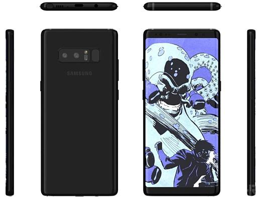 Утечка: новые рендеры Samsung Galaxy Note 8