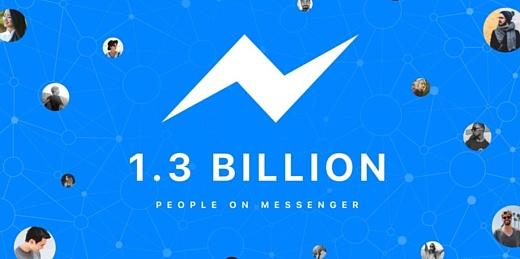 Facebook Messenger пользуются больше 1.3 млрд человек