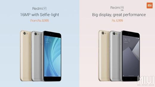 Xiaomi представила ультрабюджетные смартфоны Redmi Y1 и Y1 Lite