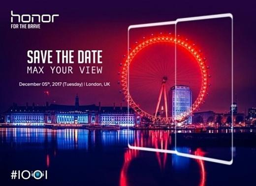 5 декабря Huawei представит новый смартфон Honor V10 с двойной камерой