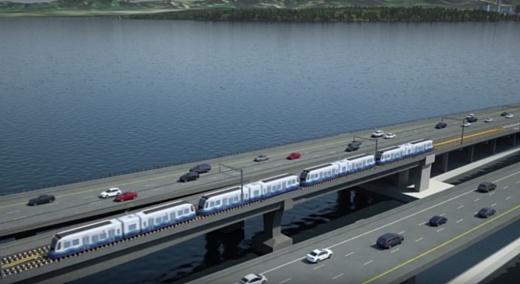 В Сиэтле строят первый в мире пассажирский поезд на плавающем мосту