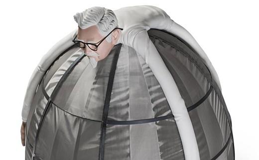 KFC представила палатку для защиты от интернета