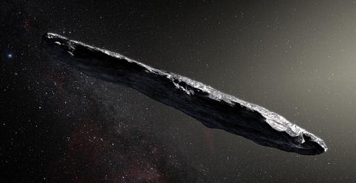 Внутри межзвездного астероида может быть лед