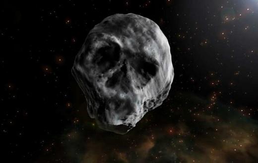 Рядом с Землей пролетит астероид в форме черепа