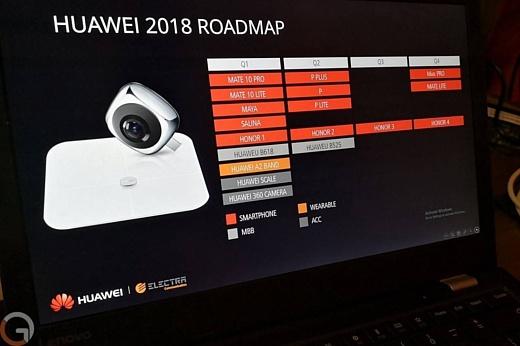 В сеть попала информация о планах Huawei на 2018
