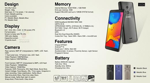 Слух: Alcatel готовит бюджетный смартфон 3C с 18:9 экраном