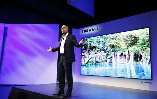 The Wall — новый 146-дюймовый модульный MicroLED-телевизор Samsung