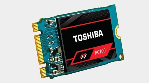 Toshiba показала новые скоростные SSD-накопители RC100 NVMe
