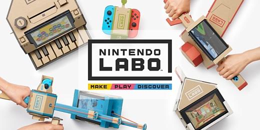 Nintendo показала картонный конструктор Labo, который нужно использовать вместе со Switch