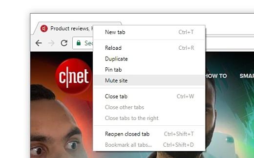 В Chrome 64 появилась функция выключения звука на целых сайтах