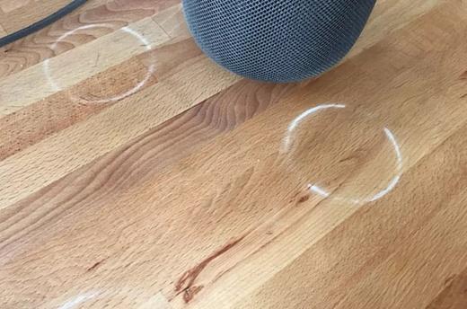 Владельцы Apple HomePod пожаловались на белые круги, которые колонка оставляет на деревянных поверхностях