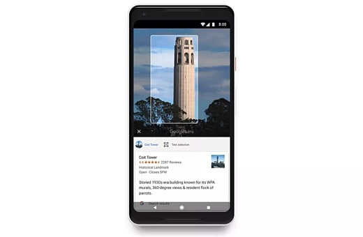 Поддержка Google Lens появится на всех Android-смартфонах