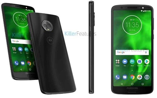 Утечка: фото и характеристики Motorola Moto G6 и Moto G6 Play