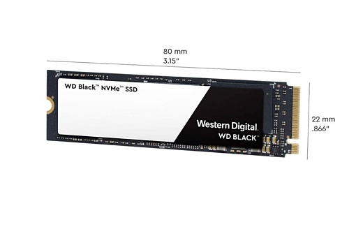 Western Digital представила высокоскоростной NVMe SSD-накопитель WD Black 3D
