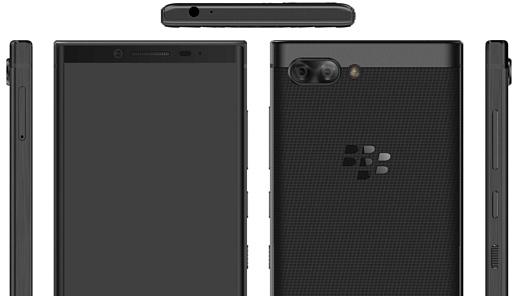 В сеть попали рендеры нового смартфона BlackBerry с QWERTY-клавиатурой и двойной камерой