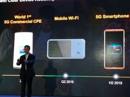 Первый 5G-смартфон Huawei появится в продаже во второй половине 2019