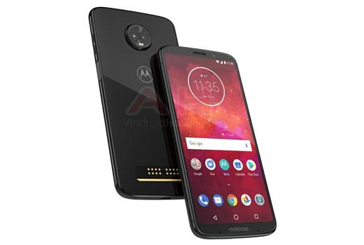 Утечка: новый рендер Motorola Moto Z3 Play