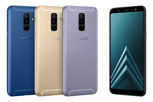 Samsung анонсировала новые смартфоны Galaxy A6 и Galaxy A6+