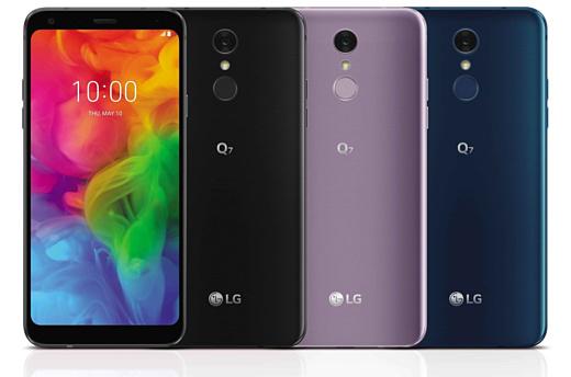 LG показала три смартфона Q7