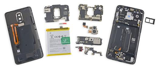Эксперты iFixit заглянули внутрь OnePlus 6