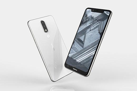 Утечка: рендеры Nokia 5.1 Plus