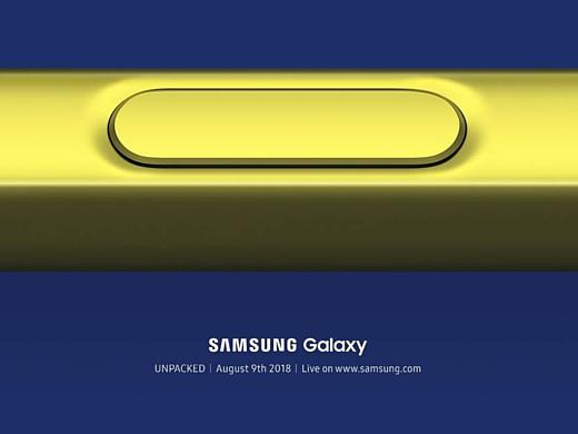 Анонс Samsung Galaxy Note 9 состоится 9 августа