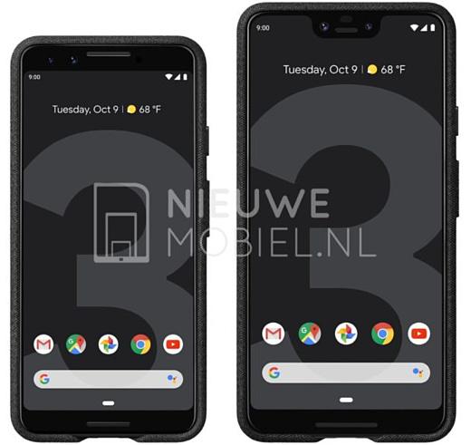 Утечка: новые рендеры Google Pixel 3 и Pixel 3 XL