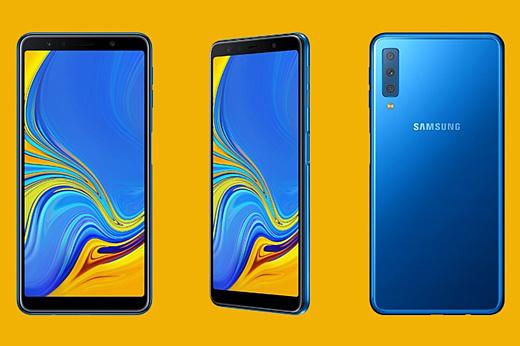 Samsung анонсировала смартфон Galaxy A7 (2018) с тройной камерой