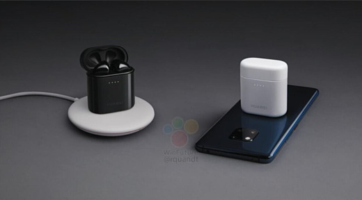 Слух: беспроводные наушники Huawei Freebuds 2 Pro можно будет заряжать с помощью смартфона Mate 20