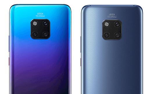 В сеть попали рендеры Huawei Mate 20 Pro с тройной камерой