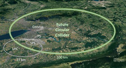ЦЕРН собирается построить новый коллайдер — вчетверо больше предыдущего