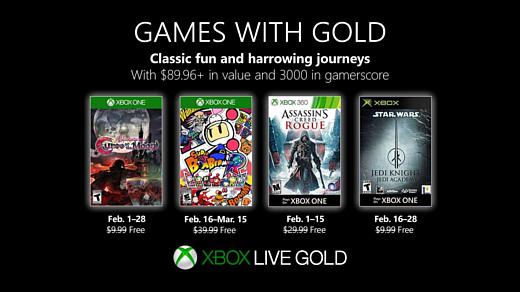 Microsoft назвала бесплатные игры для подписчиков Xbox Live Gold в феврале