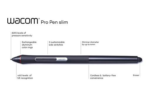 Wacom начала продажи нового стилуса Pro Pen slim