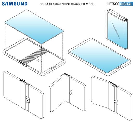 Samsung запатентовала новый складной смартфон с экраном снаружи