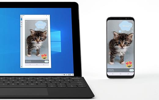 Microsoft тестирует зеркалирование экрана Android на Windows 10