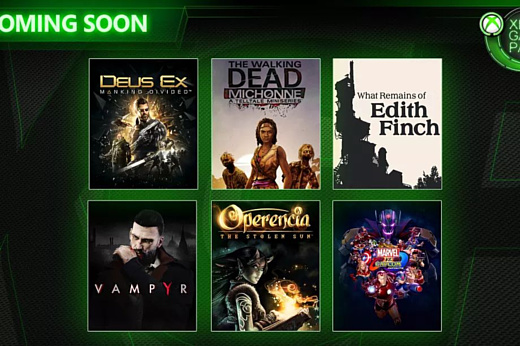 В марте в каталог Xbox Game Pass добавят Deus Ex: Mankind Divided и Vampyr