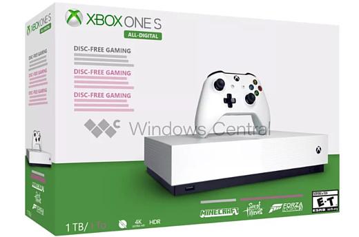 Слух: бездисковый Xbox One S All-Digital Edition начнут продавать 7 мая