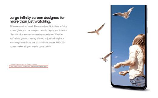 Samsung подтвердила информацию о безрамочном экране Galaxy A90