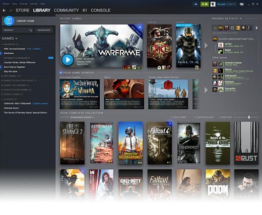 Valve продемонстрировала новый дизайн Steam
