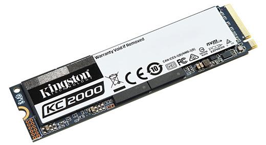 Kingston анонсировала новый скоростной NVMe PCIe SSD-накопитель KC2000