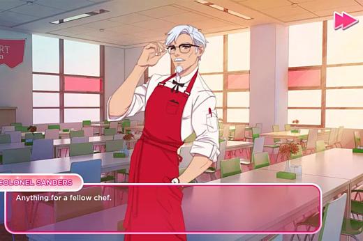 KFC сделала игру, в которой нужно крутить роман с Полковником Сандерсом